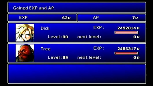 Final Fantasy VII player gives life meaning by hitting level 99 before first boss