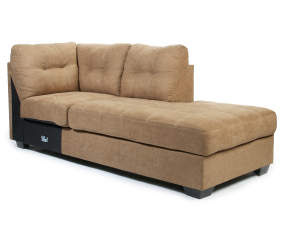 Signature Design By Ashley Driskell Mocha Right Arm Facing Chaise