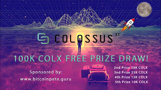 YOUR CHANCE TO WIN ONE HUNDRED THOUSAND COLX!
