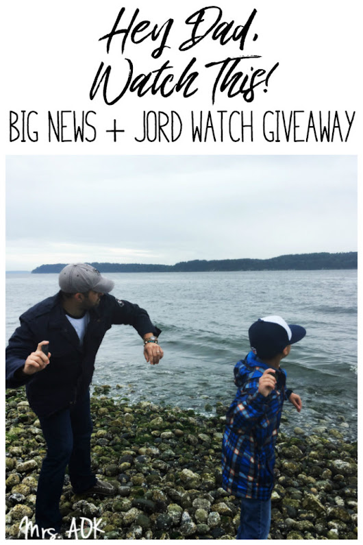 Watch This! Sharing Big News +JORD Watch Giveaway