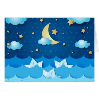 Sea at Night Card