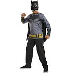 Batman Costume Top for Kids - Size Large
