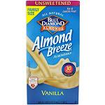 Blue Diamond Growers Almond Breeze Almond Milk Unsweetened Vanilla 0.5 Gallon