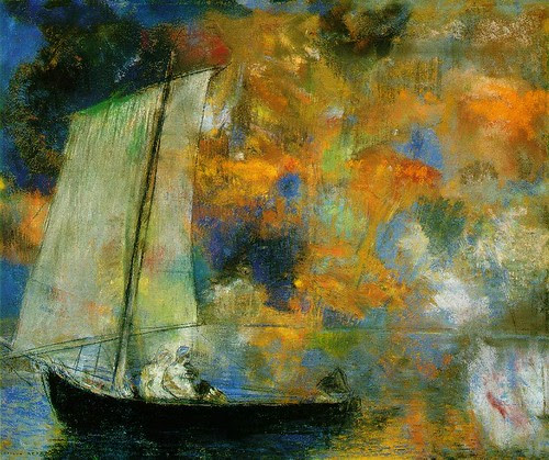 Flower Clouds, c. 1903, Odilon Redon, Pastel, 45 x 54 cm