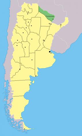 Resultado de imagen para mapa formosa