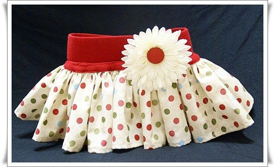 Baby Ruffle Skirt  SIZE 0-6 Months RED POLKA DOT