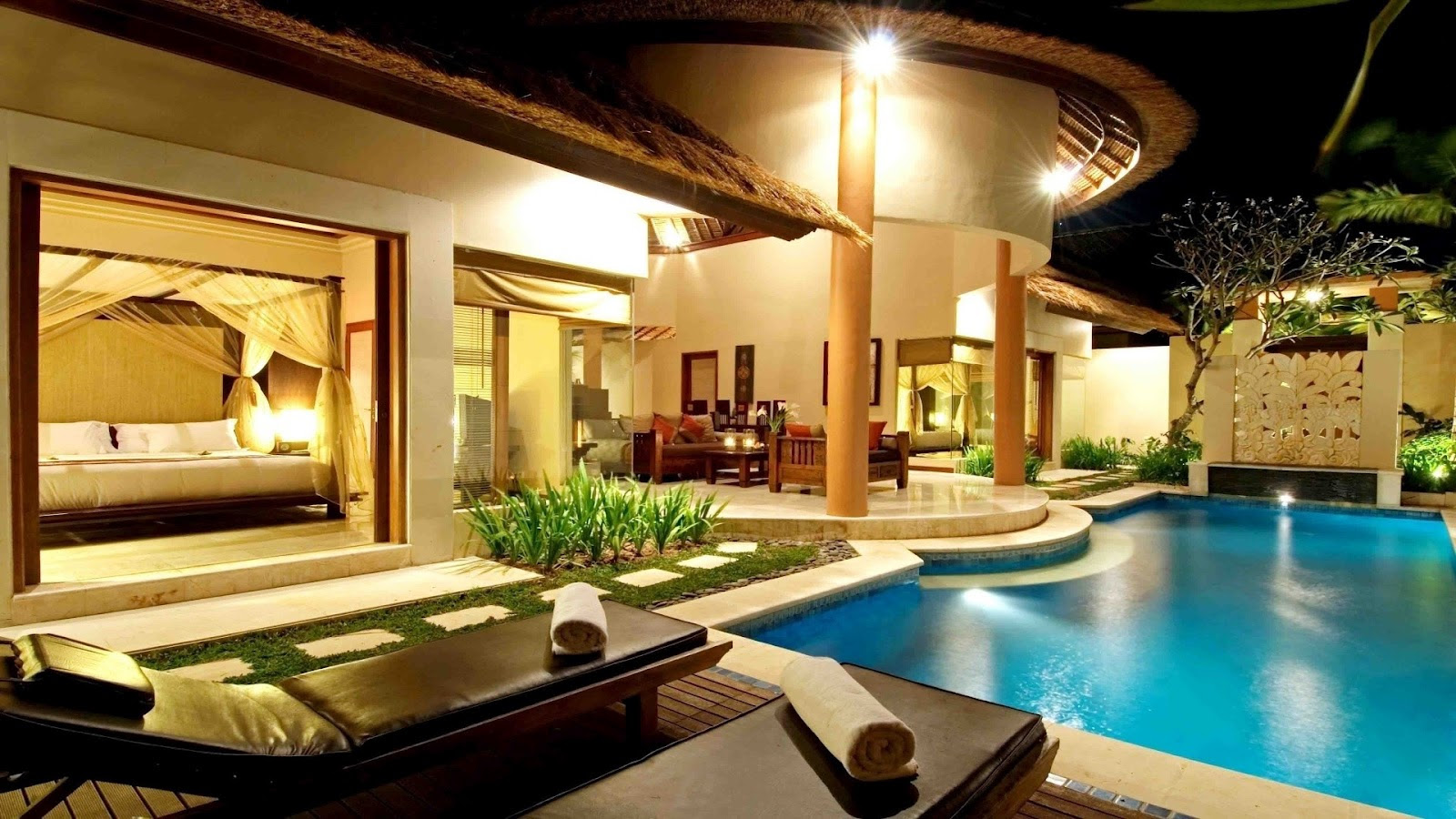 build my dream house with pool inside with the presense chaise lounge pool chairs and stunning home design
