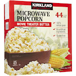 Kirkland Signature Microwave Popcorn Movie Theater Butter 44-Count