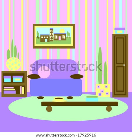 Abstract Graphic Living Room Kids Style Stock Photo 17925916 ...