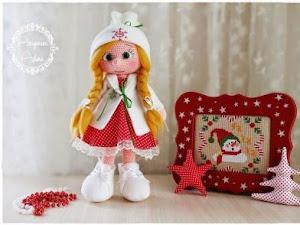 Muñeca amigurumi con trenzas