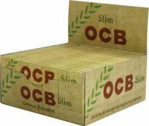 Details about  OCB Classic Rolling Paper King Size Slim Organic Hemp Box of 50