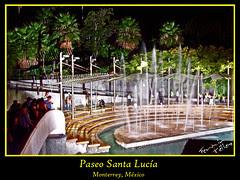 Fuentes en el Paseo Santa Lucía