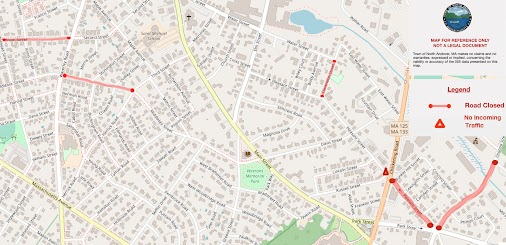 The following areas are currently closed due to Columbia Gas roadwork: Pleasant Street from Osgood Street...