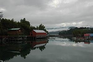 A portion of Halibut Cove, Alaska.