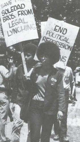 Angela Davis & Jonathan Jackson Demonstrate to Free George Jackson, 1970 by panafnewswire