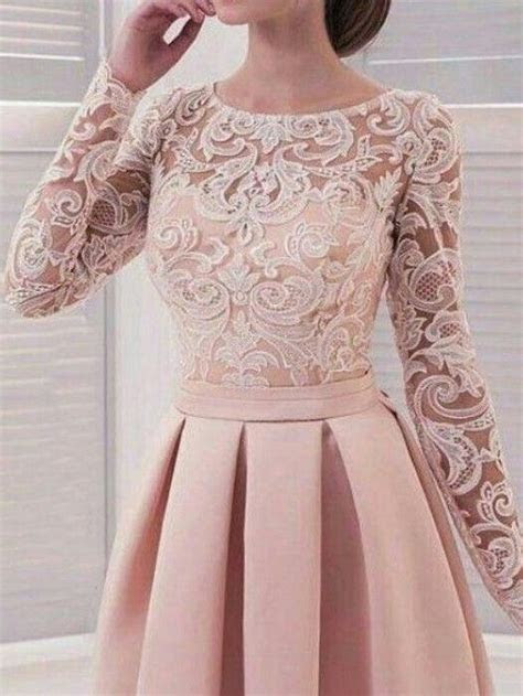 Long Sleeve Homecoming Dresses Lace A Line Simple Short