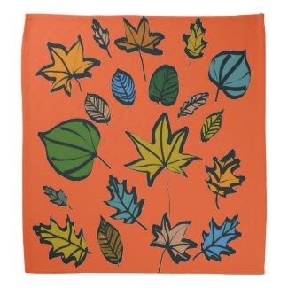 Autumn Leaves and Colors Bandana