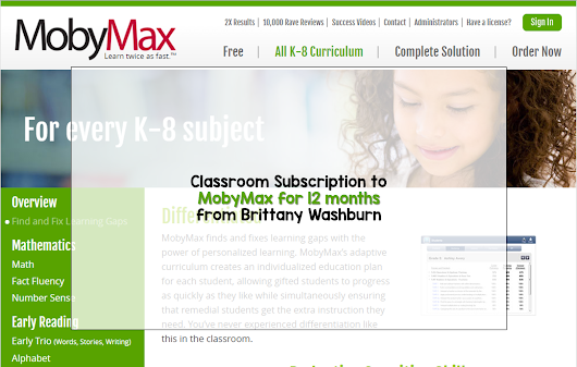 Do you want a Classroom Subscription to MobyMax for a year?