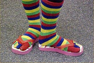 Toe socks with flip-flops
