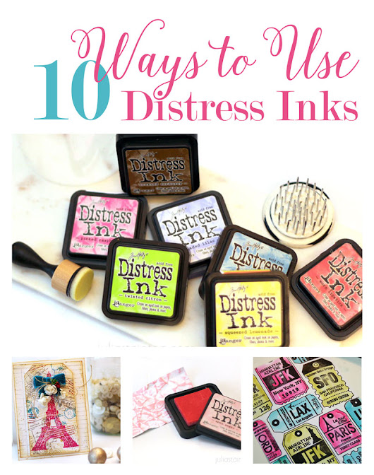 10 Ways to Use Distress Inks - Belle Papier