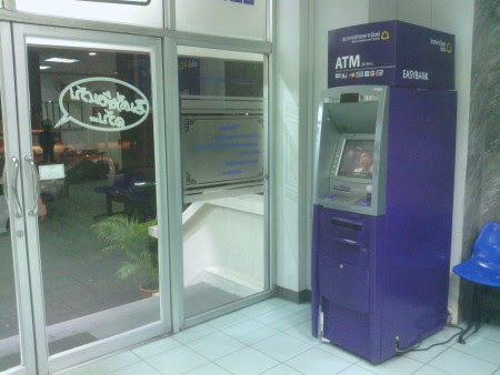 ATM SCB siam commerficla bank lumpini police station cajero automático tailandia bangkok