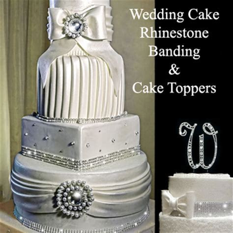 Crystal Rhinestone WEdding Cake Banding   Bling for