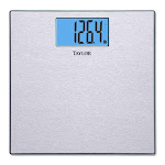 Taylor 74134102 Textured Stainless Steel Finish Digital Scale, 400 Lbs
