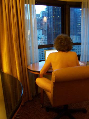 That naked blogger