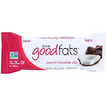 Love Good Fats - Love Good Fats Keto Friendly Snack Bars - Coconut Chocolate Chip (12 Bars) - Keto Bars