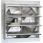 iLiving ILG8SF16V 16 Inch Variable Speed Wall Mounted Steel Shutter Exhaust Fan by VM Express