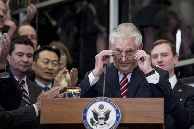 Le secrétaire d'ÉtatRex Tillerson, ancien PDG d'Exxon Mobil,... (AP)
