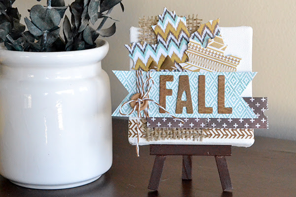 Mini Fall Canvas by Aly Dosdall