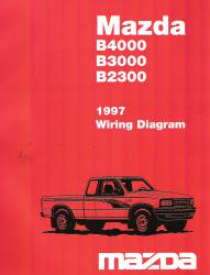 1997 Mazda B4000, B3000, B2300 Factory Wiring Diagram
