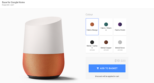 [Deal Alert] Google Home bases are 50% off ($10 and $20) on the Google Store
