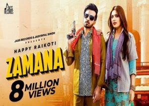 Zamana Happy Raikoti Afsana Khan Laddi Gill 2020 Full Lyrics