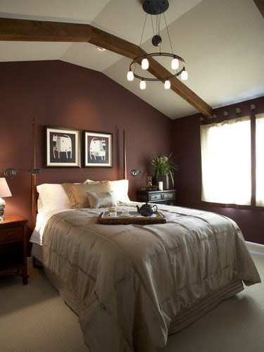 How to Decorate Your Bedroom with Brown Accent Wall - Home