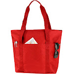 Alta Classic Genuine Over Shoulder Handled Travel Tote Travel Bag, Size: One size, Red