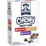 Quaker Chewy Granola Bars Variety Pack 58