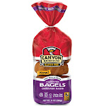 Gluten Free Cinnamon Raisin Bagels 14 Ounce by Canyon Bakehouse