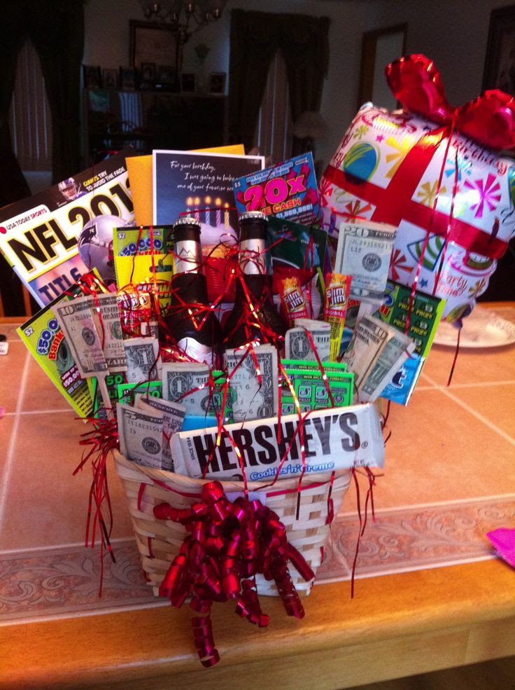 attempted to make a birthday gift basket for my boyfriends bday and ...