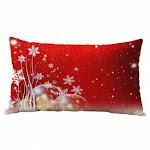(Snowflake) - Christmas Pillow Case, Rectangle Cotton Linter Pillow Cases (Snowflake)