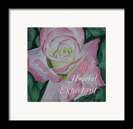 Arizona Rose Love Hopeful Framed Print