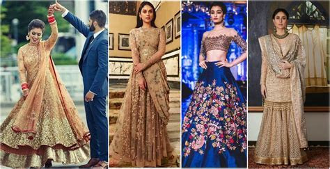 9  Bridal Wear Wedding trends 2018 for Engagement, Sangeet
