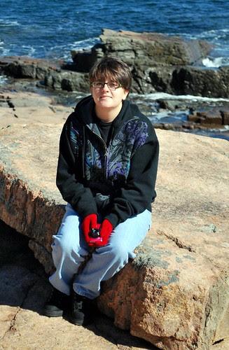 Jamie at Acadia National Park
