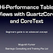 Hi performance table views with QuartzCore and CoreText