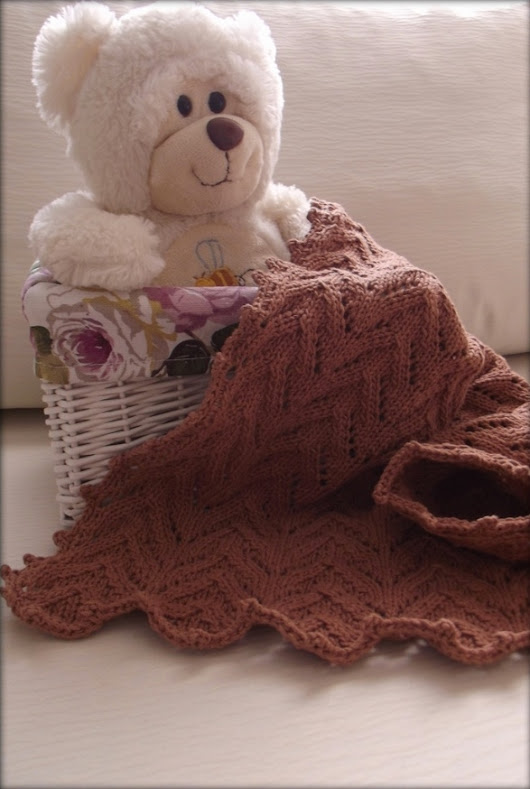 Great Expectations baby blanket free pattern - Xena Knits
