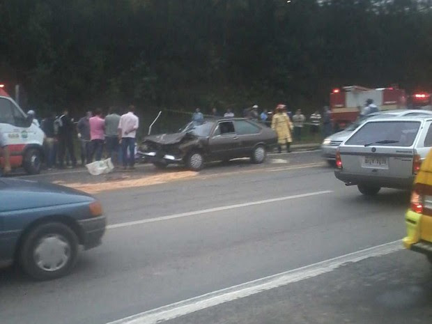 Ainda não se sabe como o acidente aconteceu (Foto: Mickael/Tem Você)