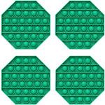 Fidget Pack Pop Pop – 2 pcs Pop Up Fidget Toys for Kids – Stress Relief Fidgets – Anti Stress Squeeze Toys (Green + Purple) (Set: 4 x Green)