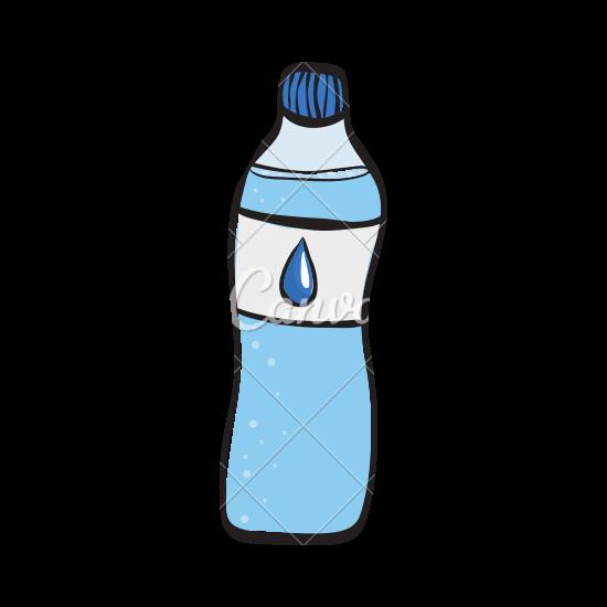 School Water Bottle Drawing