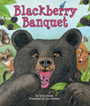 Forest animals squeak, tweet, slurp, yip and chomp over the sweet, plump fruit of a wild blackberry bush. But what happens when a bear arrives to take part in the feast?